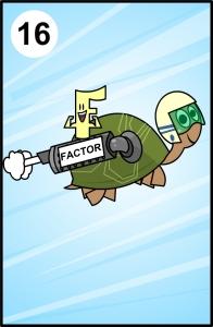 tortuga turbinada con factor